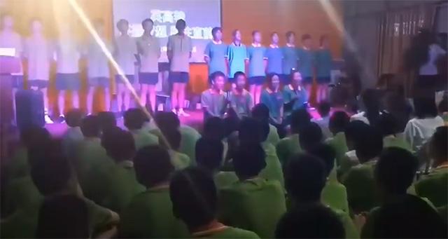 叛逆少年特训学校孩子们合唱《光明》